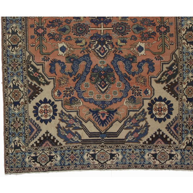 Hand Knotted Persian Wool Area Rug 5 10: RugsinDallas Hand Knotted Wool Persian Tabriz Rug