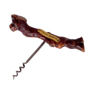 Vintage French Grapevine Corkscrew with Label