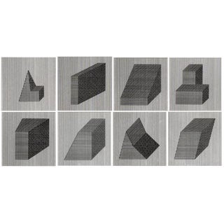 1984,Sol Lewitt Classic Graphic Silkscreen Prints - Set of 8