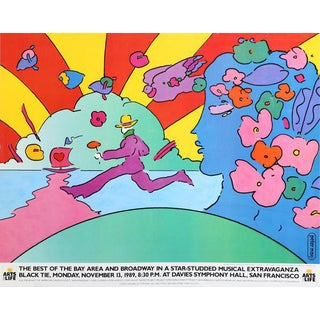 "1989 Peter Max ""Arts for Life"" Poster"