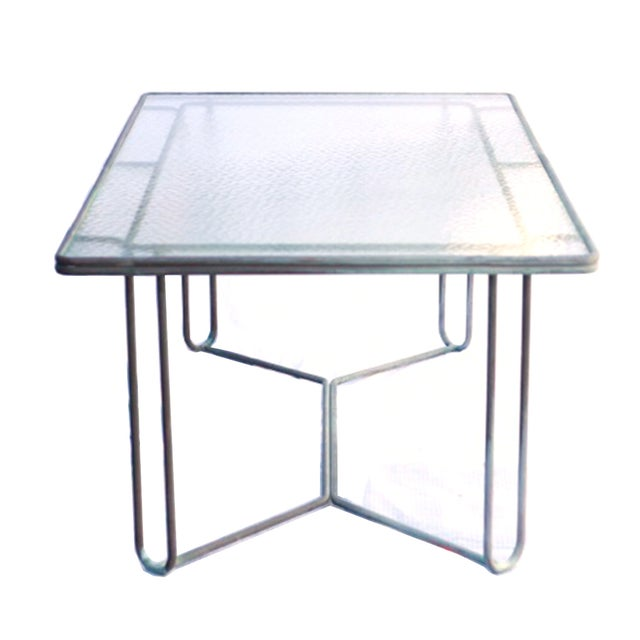 Image of 1950s Bronze Dining Table by Walter Lamp