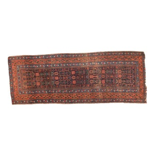 Antique Kurdish Bijar Rug Runner - 4' x 10'3""