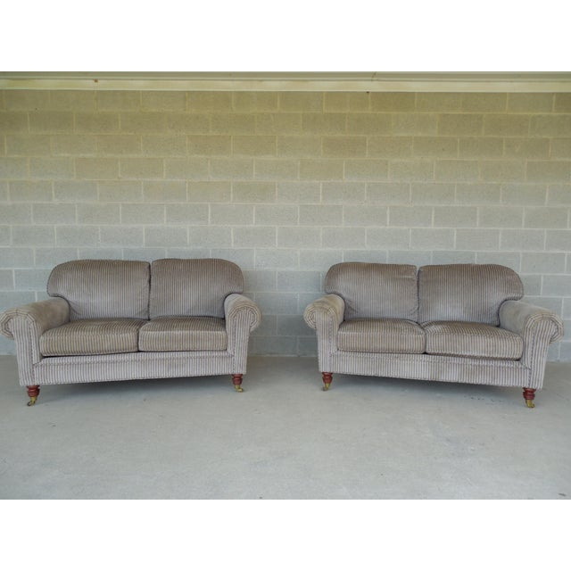 Calico Corners Traditional Style Settees Pair Chairish