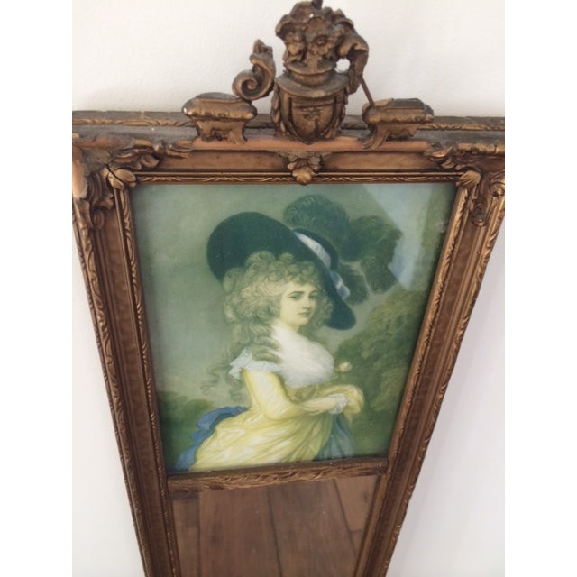 Trumeau Mirror with 18th Century Woman - Image 4 of 6