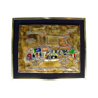 """""""Jalopy"""" Mixed Media Wall Sculpture Signed Lelpe"""