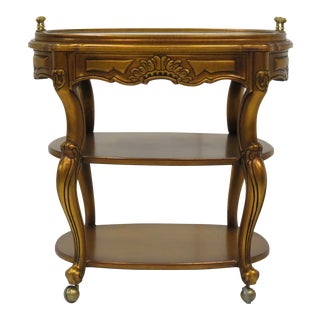 French Style Giltwood Serving Cart