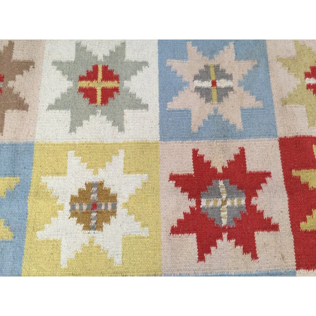 Wool Indian Dhurrie Rug - 5' x 8' - Image 6 of 9