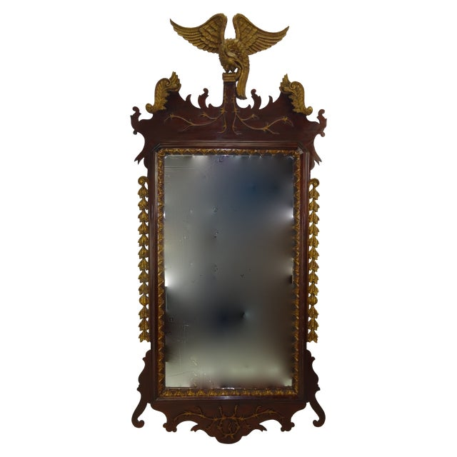 Federal Carved Wood Eagle Gilt Mirror - Image 9 of 9