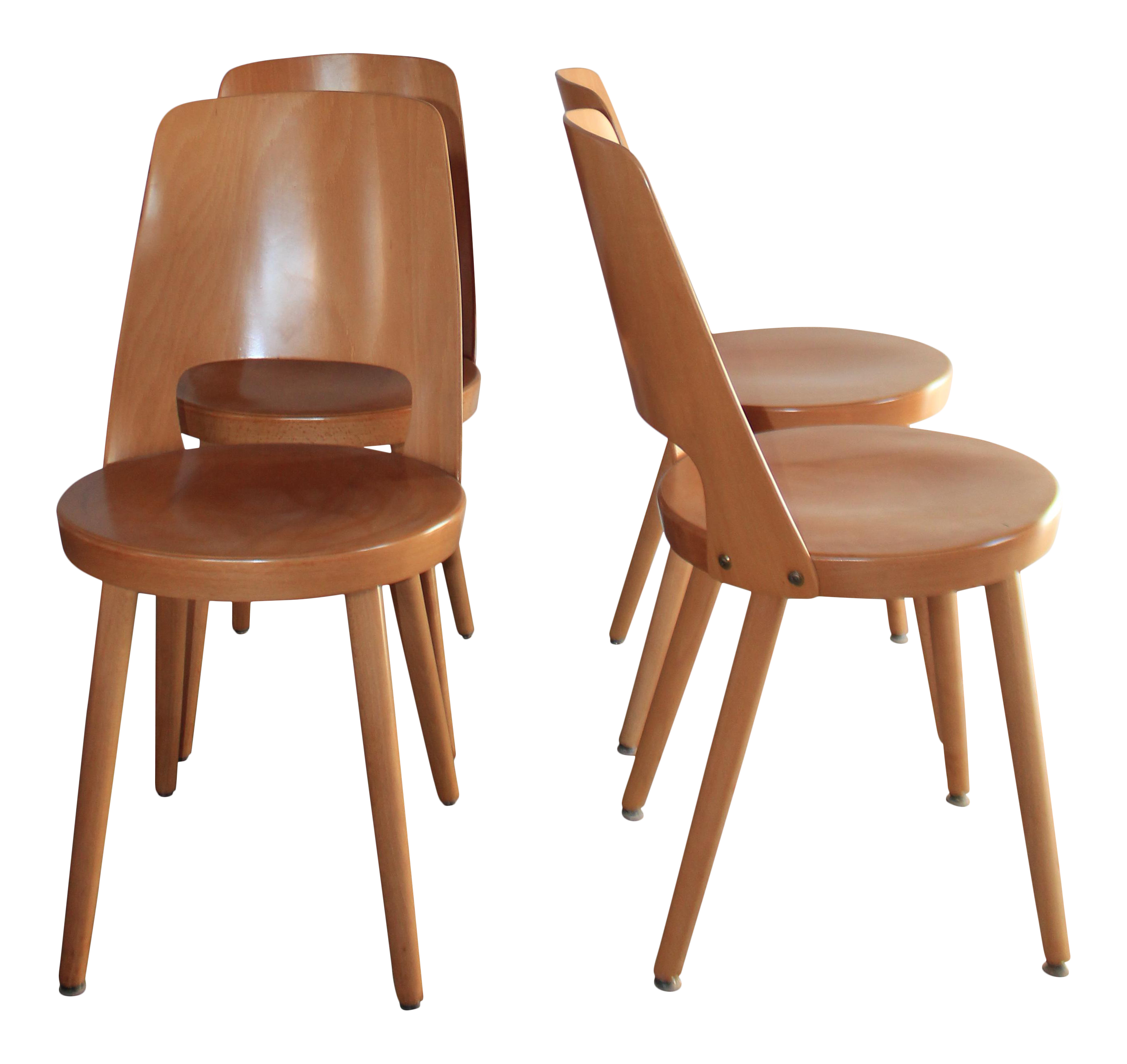 midcentury modern french bistro chairs set of 4