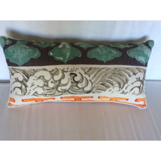 Jim Thompson Asian Style Linen Pillows - A Pair - Image 3 of 4