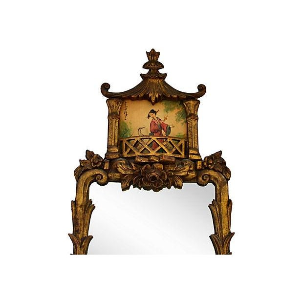 Chinese Chippendale-Style Pagoda Mirror - Image 2 of 3