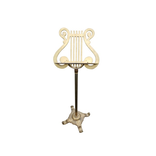 Vintage Brass Music Display Stand - Image 2 of 7