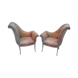 Hollywood Regency Directoire Side Chairs - A Pair