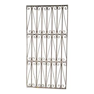 Antique Victorian Iron Gate Window Garden Fence Architectural Salvage Door #325