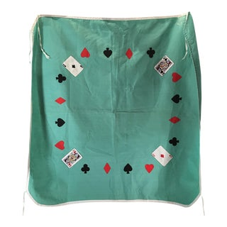 Mid-Century Green Card Table Cover