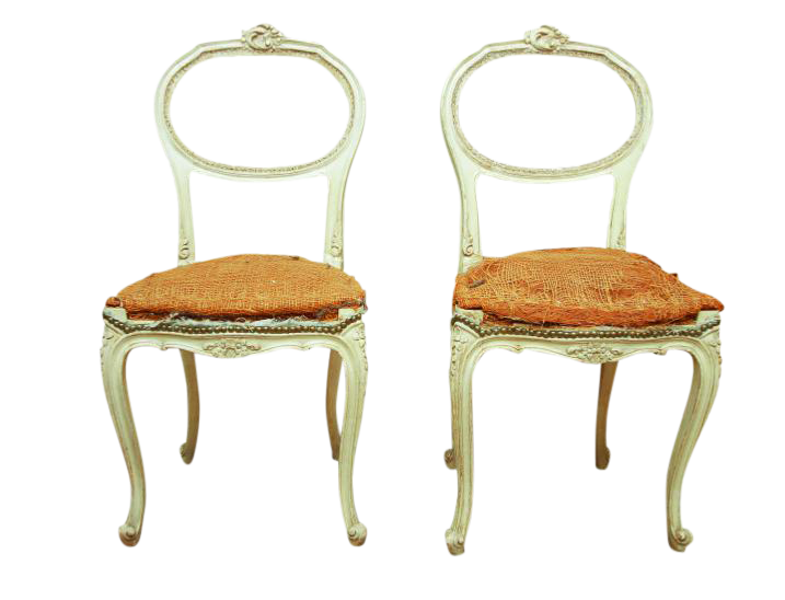 Louis XV Style Balloon Back Chairs   A Pair