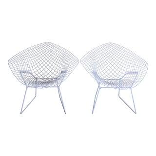 Mid-Century Harry Bertoia Knoll Diamond Chairs - Pair