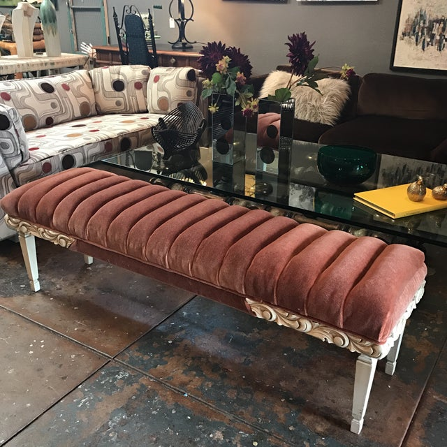 Tufted Mohair Bench - Image 7 of 8