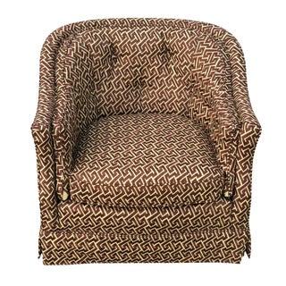 Henredon Geometric Patterned Club Chair