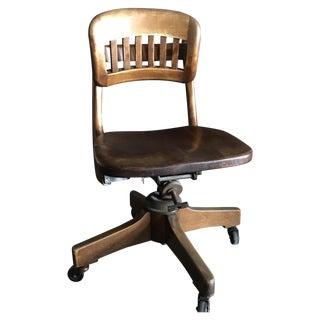 Antique Walnut Office Chair