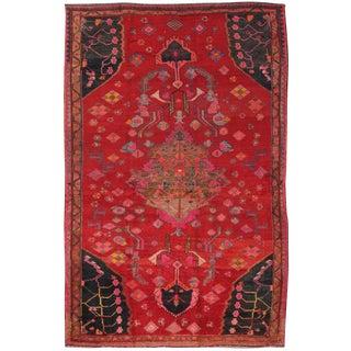 """Vintage Hamadan Wool Area Rug- 5' 5"""" x 8' 5"""""""