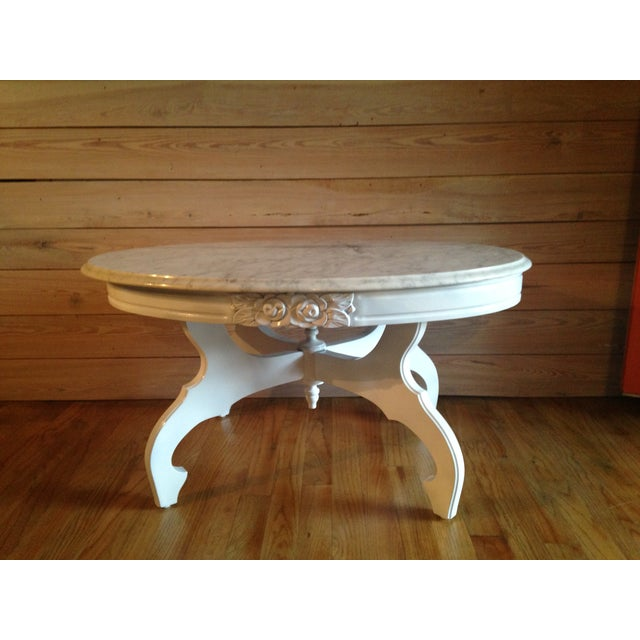 Victorian Coffee Table Set: Victorian Marble Top Coffee Table