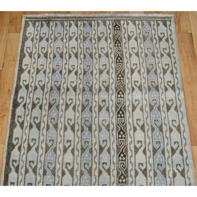 Hand-Knotted Turkish Antique Effect Rug - 3′ X 7′ - Image 6 of 9