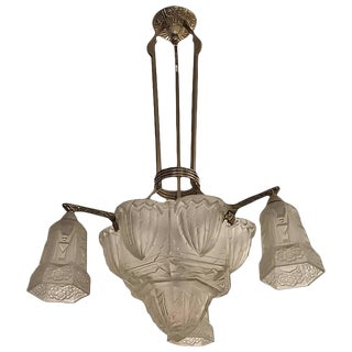 Hettier & Vincent French Art Deco Chandelier