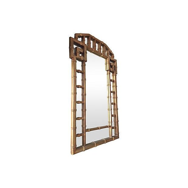 Greek Key Gold Frame Mirror 1960's - Image 3 of 7