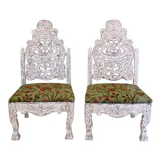 Vintage Indonesian Kursi-Kursi Chairs - A Pair