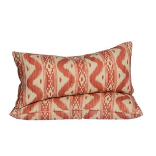 China Seas Lumbar Ikat Pillows - A Pair