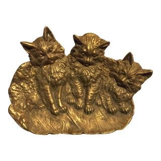 Antique Bradley & Hubbard Cast Brass Tray