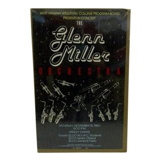 1980 Vintage Glenn Miller Orchestra Concert Poster