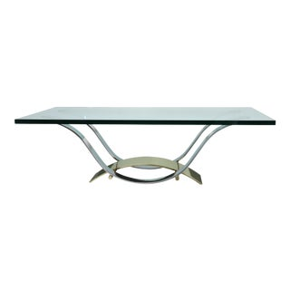 Brass and Chrome Elegant Coffee Table