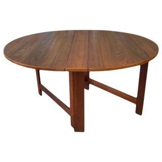 Mid-Century Scandinavian George III Style Drop-Leaf Teak Table