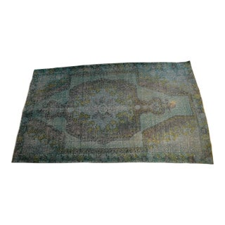 "Turkish Green Overdyed Rug- 4'3"" x 6'8"""