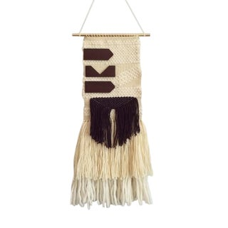 Wall Hanging Weaving With Leather