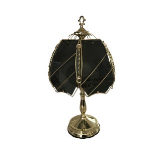 Victorian Style Glass and Gold Lamp
