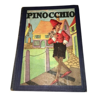 Vintage Pinocchio Children's Book With Decorative Cover