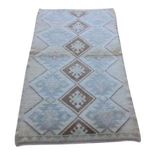 Vintage Tribal Antique Turkish Oushak Soft Colors Hand Knotted Rug - 3' X 5'6