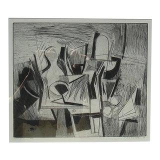 """Confluence,"" 1956 original print by Berkeley artist Karl Kasten"