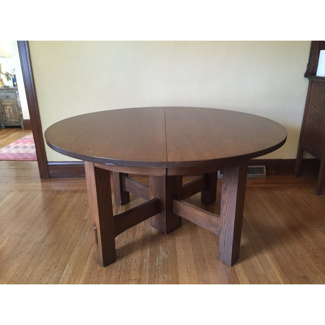 Stickley #634 Reproduction Oak Dining Table - Image 2 of 8