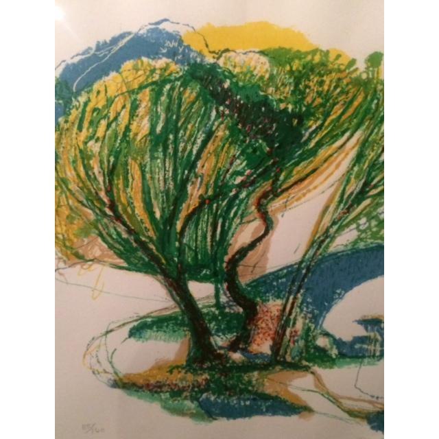 "Ronald Christensen ""Blue Bridge"" Lithograph - Image 3 of 8"