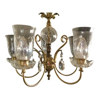 Louis XV Pre-1940 Era Crystal Chandelier
