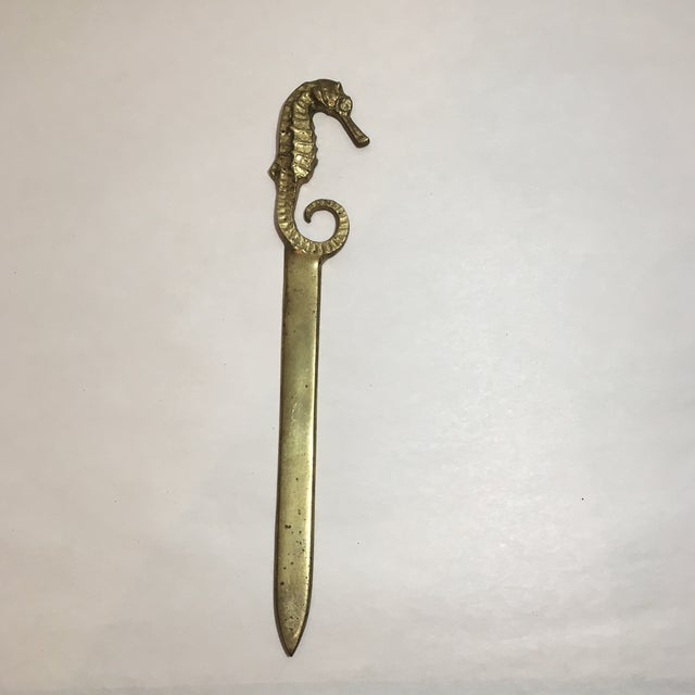 Image of Brass Seahorse Letter Opener