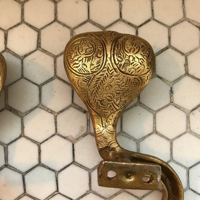 Gold Brass Cobra Door Handles- a Pair - Image 11 of 11