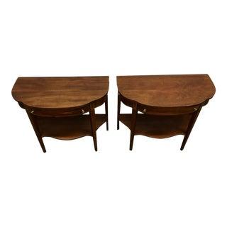Mersmen Mahogany Demi-Lune Tables - A Pair