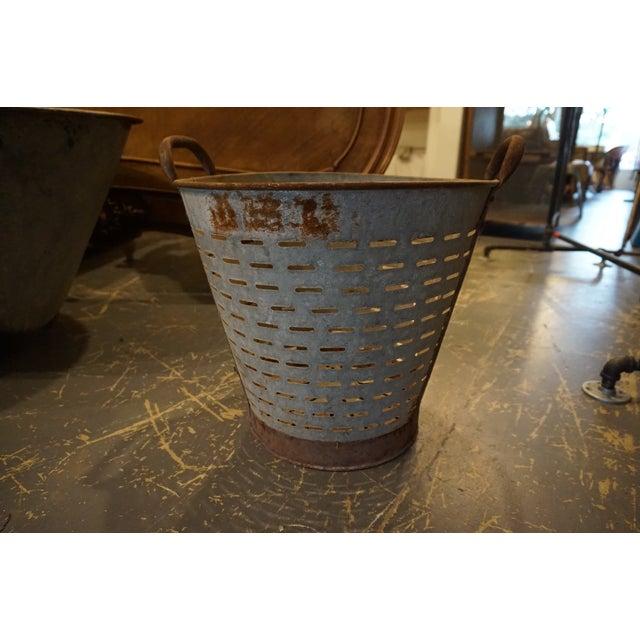 Vintage Metal Olive Bucket - Image 4 of 5