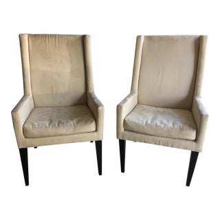 West Elm Contemporary Armchairs - A Pair