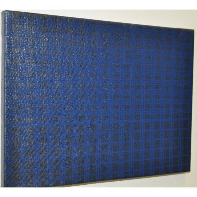 1970's Charles Hersey Blue Vintage Op Art - Image 4 of 5